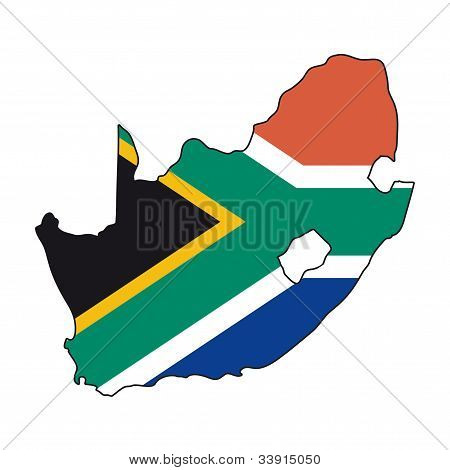 Map Flag South Africa