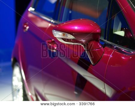 Pink Auto Rearview Mirror