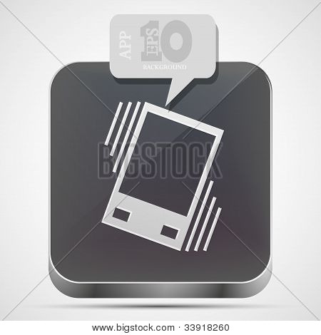 Vector Vibration App Icon With Gray Bubble Speech. Eps10