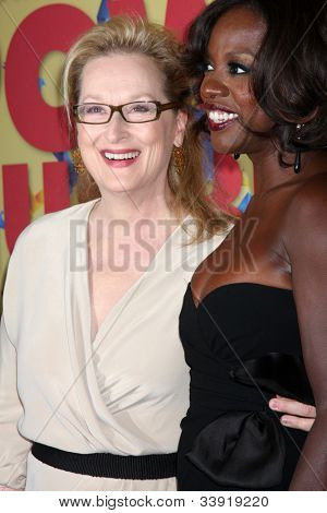 LOS ANGELES - JUN 12:  Viola Davis,  Meryl Streep  arrives at the Women in Film Crystal and Lucy Awards at Beverly Hilton Hotel on June 12, 2012 in Beverly Hills, CA