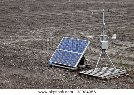 Solar Powered Automatic Weather Monitoring Station