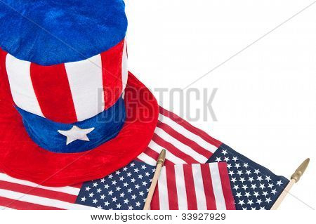 A patriotic theme of American holidays such as July 4th, Memorial Day and Veteran's Day.