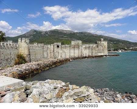 View of Anamur fortress in Turkey