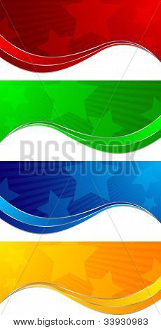 Vector Collection Colorful Banners