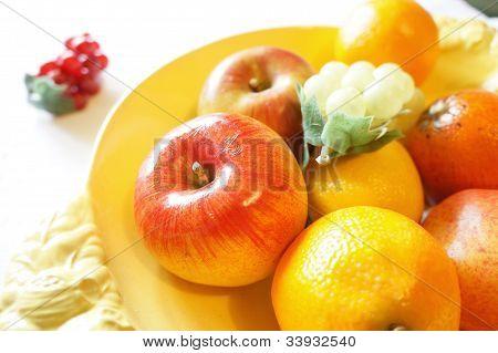 Focus on red apple