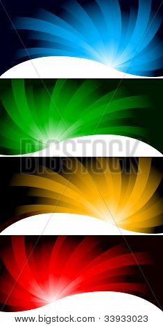 Vector Collection Bright Banners