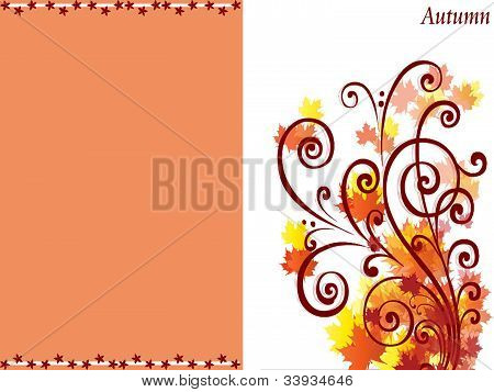 Autumn seasonal card