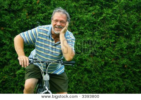 Man On His Bike
