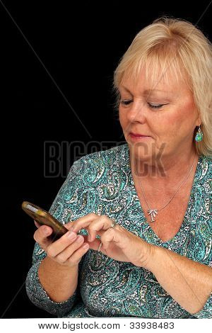 Mature Blonde Woman With Cell Phone (2)