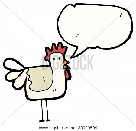 cartoon clucking hen