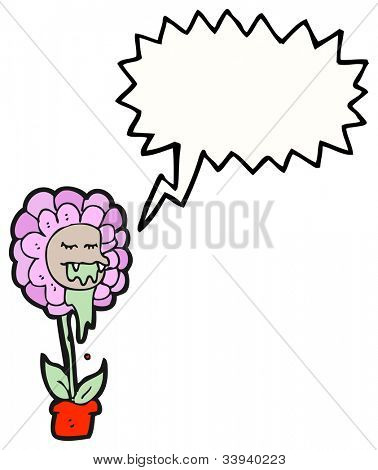 cartoon flower monster
