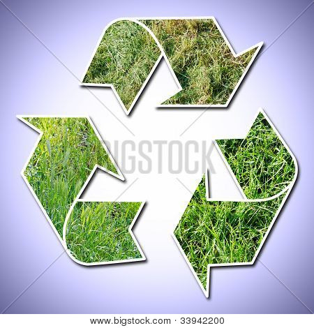 Recicl o sinal grama Vignetted