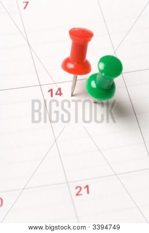 Calendar And Thumbtack