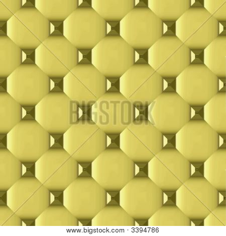 Seamless Metalic Grommets Puffed Wallpaper