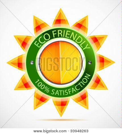 Eco friendly sun label