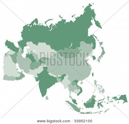 Asia vector map