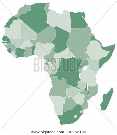 Africa vector map