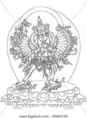 Kalachakra Buddhist Deity