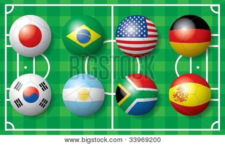 International Soccer football flag