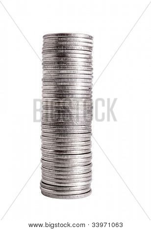 Swedish kronor coins isolated on white background