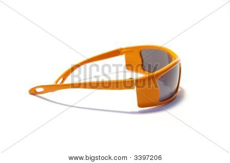 Orange Sunglasses Isolated