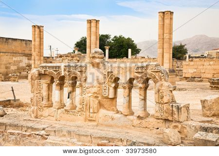 Hisham's Palace in the West Bank city of Jericho. Palestine, Israel