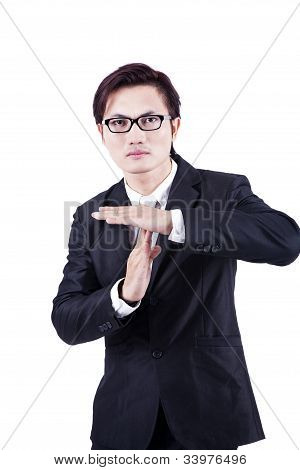 Businessman With Hand Gesture