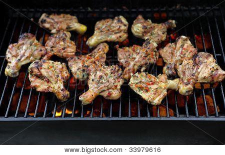 Grilling Chicken Legs