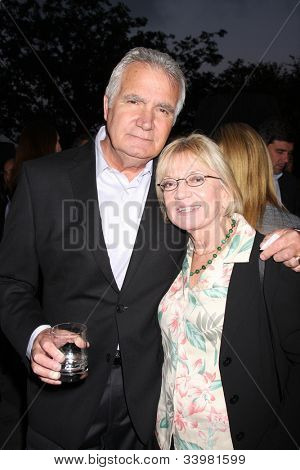 LOS ANGELES - JUN 14:  John McCook, Kay Alden arrives at the ATAS Daytime Emmy Awards Nominees Reception at SLS Hotel At Beverly Hills on June 14, 2012 in Los Angeles, CA