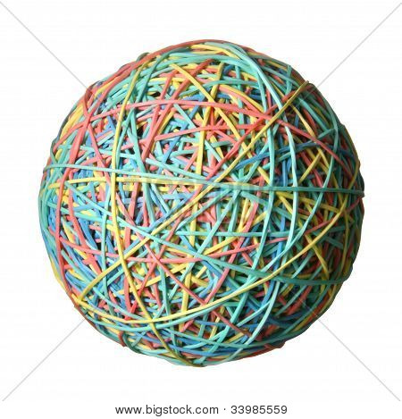 Rubber band ball.