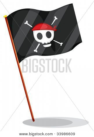Illustration of a pirate flag - EPS VECTOR format also available in my portfolio.