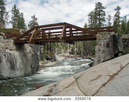 Wooden Bridge In Yosemite