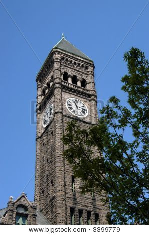 Clock Tower In Courthouse Museum