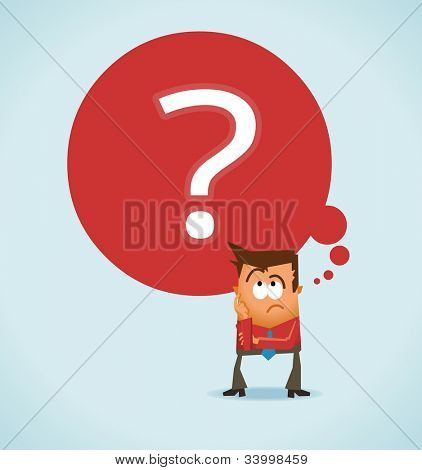 Wondering and uncertainty. Vector illustration