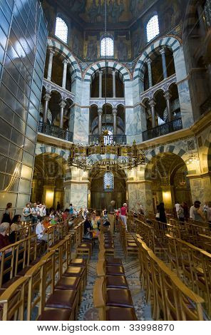 Interior Of Aachen Cathedral, Germany