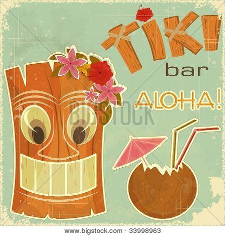 Vintage Postcard havaiano