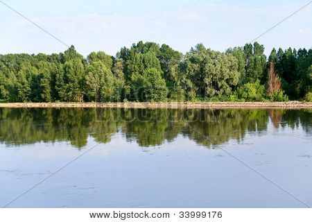 Loire River Near Orleans City, France