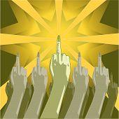 Постер, плакат: Палец