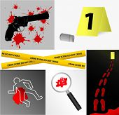 Crime scene icons vector