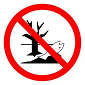 Danger Dispose Of These Chemical Correctly They Are Dangerous To The Environment Symbol Sign, Vector poster