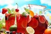 stock photo of sangria  - Refreshing sangria  - JPG
