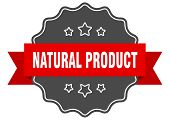 Natural Product Red Label. Natural Product Isolated Seal. Natural Product poster