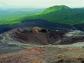 stock photo of negro  - Crater of the volcano Cerro Negro near Leon Nicaragua - JPG