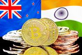 Concept For Investors In Cryptocurrency And Blockchain Technology In The New Zealand And India. Bitc poster