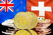 Concept For Investors In Cryptocurrency And Blockchain Technology In The New Zealand And Switzerland poster