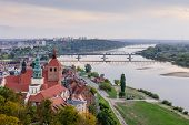 Sightseeing Of Poland. Cityscape Of Grudziadz, Aerial View Of The Historic Center And Wisla River poster