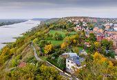 Sightseeing Of Poland. Cityscape Of Grudziadz, Aerial View Of Grudziadz Town And Wisla River poster