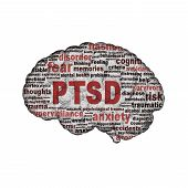 foto of aroused  - PTSD symbol design isolated on white background - JPG