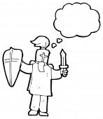 foto of arthurian  - cartoon arthurian knight - JPG