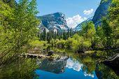 Half Dome reflecting in a Mirror Lake, Yosemite National Park. California, USA poster